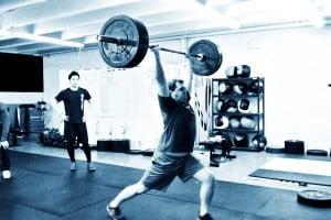Wes hitting 185 # on the split jerk