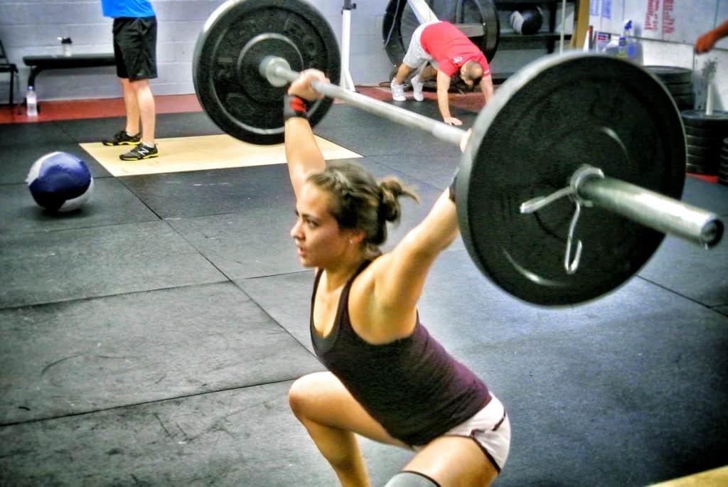 Overhead squats - Katelyn