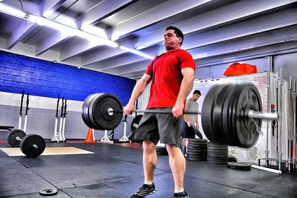 Mike doing a 265 lb power clean