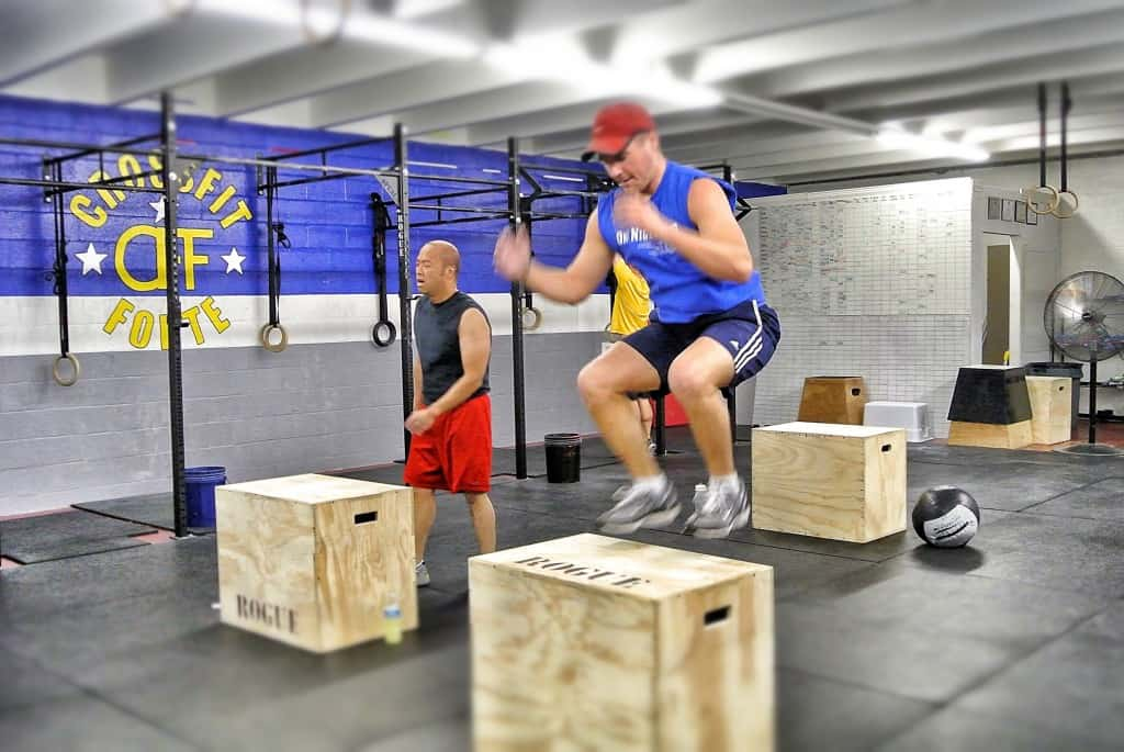 Travis doing some box jumps