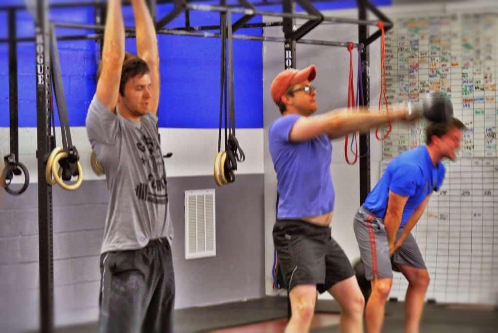 Tyler, Johnson, and Parker swinging away