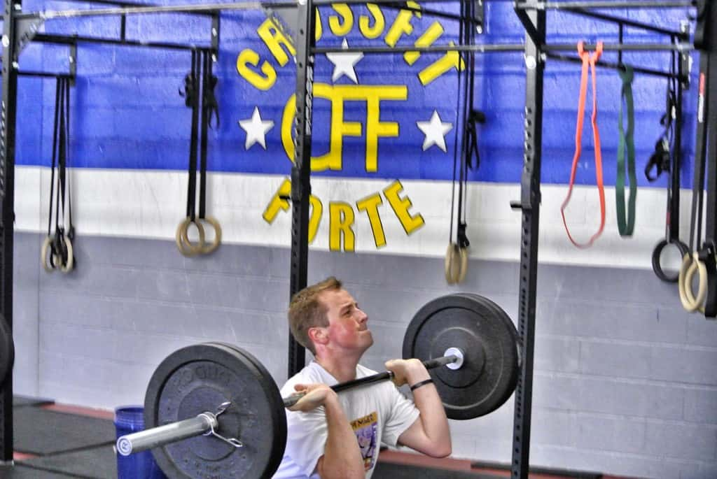 John doing thrusters. A beast in the making!
